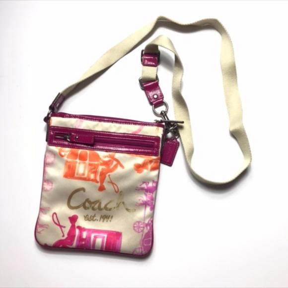 Coach Handbags - Coach Satin Classic Crossbody